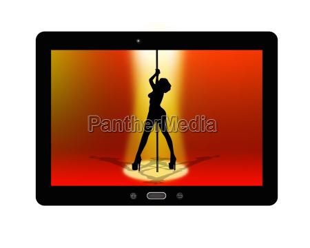 digital tablet smart striptease computer pige