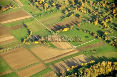 birds eye view landbrug marker enge