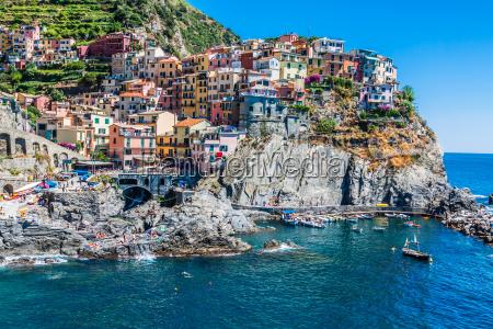 cinque terre italien manarola farverige fiskere