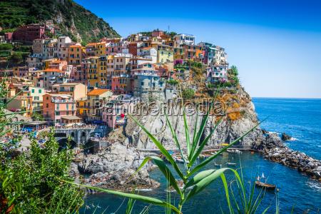 cinque terre italien manarola farverig