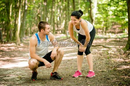 par slapper af efter jogging