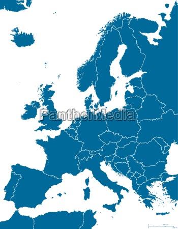 europa politisk kort outline