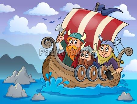 vikingeskib tema billede 2
