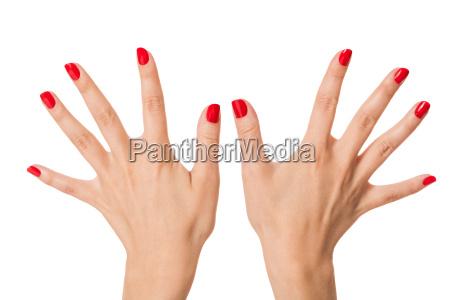 hand finger pleje som hand care