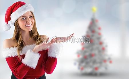 sammensat billede af sexet santa pige