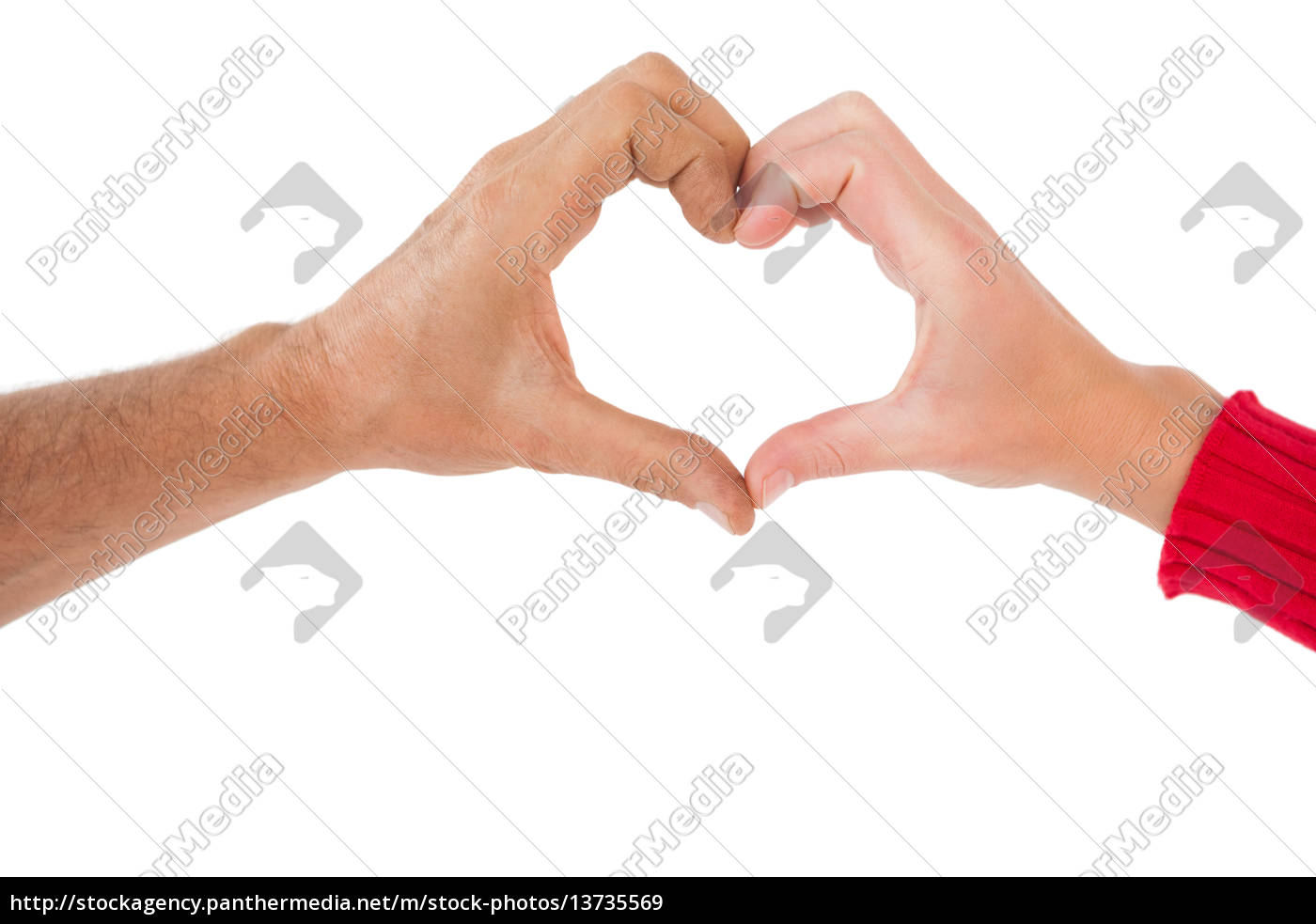 couple, making, heart, shape, with, hands - 13735569