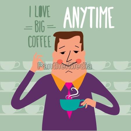 kaffepause forretningsmand drikker kaffe