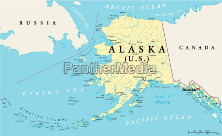 alaska politisk kort
