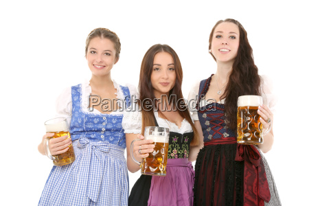 maedels in tracht
