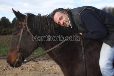 maend mand hest dyr portraet europa