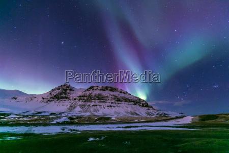northern light aurora island