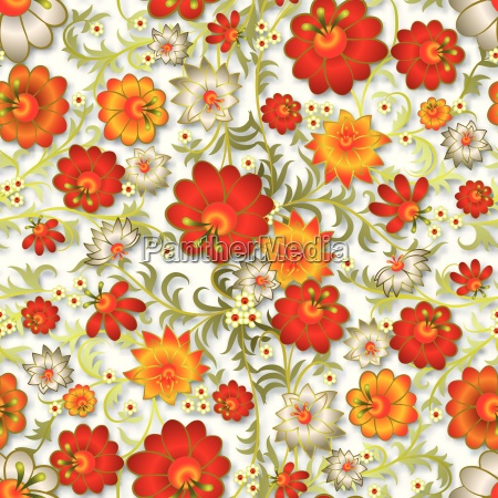 abstrakt somlos blomster ornament