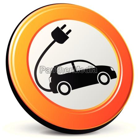 elektriske ikon bil