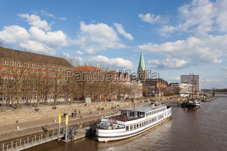 bremen germany apr 5 waterfront