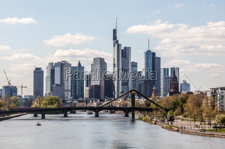 downtown skyline of the frankfurt main