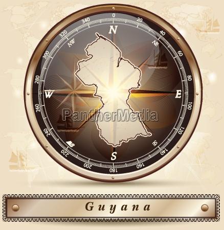 kort over guyana