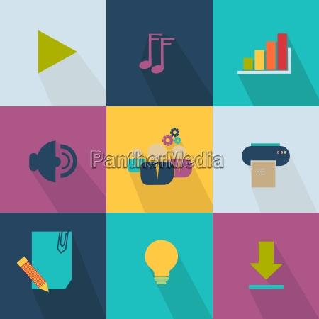 forretning ikon stil web 20