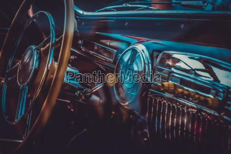 interior af gamle retro bil vintage