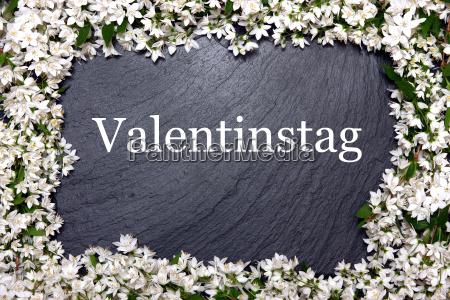 deco decorazione san valentino venatura ardesia