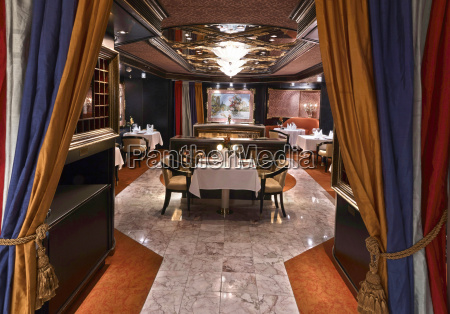 luxury classic restaurant with beautiful table
