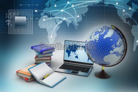 studere studie kontor notebook baerbar computer