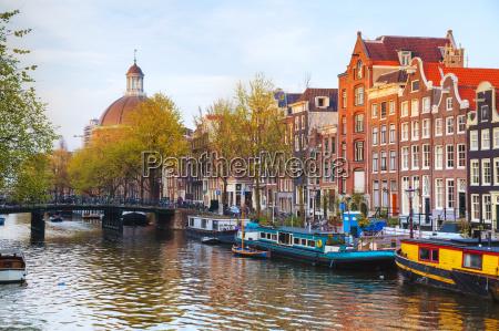 udsigt over byen amsterdam holland