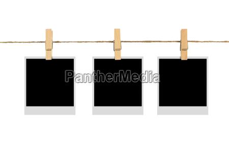 blank fotoramme pa klud linje isoleret