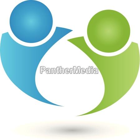 zwei personen logo menschen paar