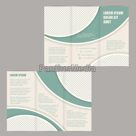 tri fold flyer brochure design skabelon