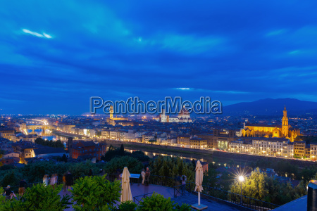 famous view of florence at night