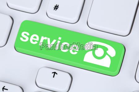 servicio de icono de telefono de