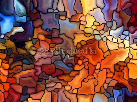 afkast af farvet glas