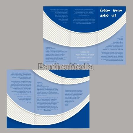 tri fold flyer brochure skabelon med