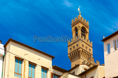 arnolfo tower of palazzo vecchio florence