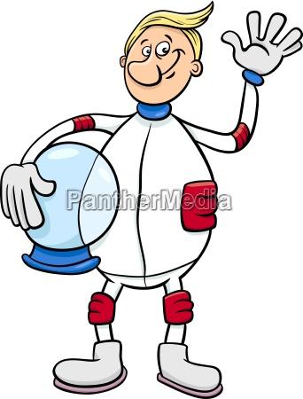 illustration astronaut karakter tegneserie
