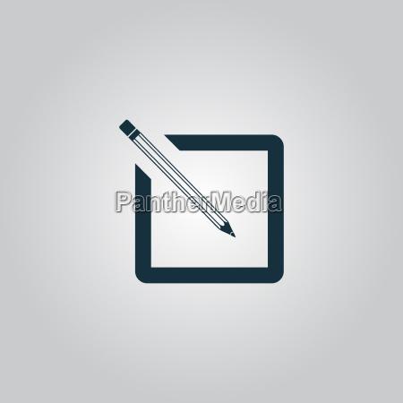 icono simple de registro