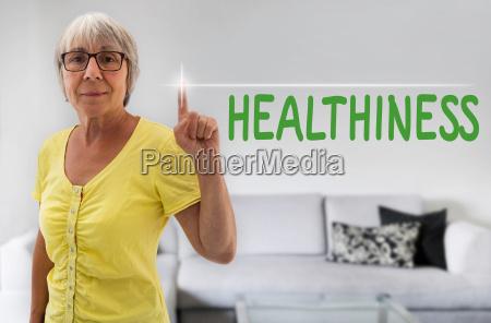 kvinde vise hand tjeneste sundhed koncept