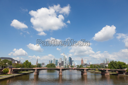 skyline of frankfurt main hesse germany