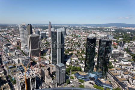 view of frankfurt main downtown