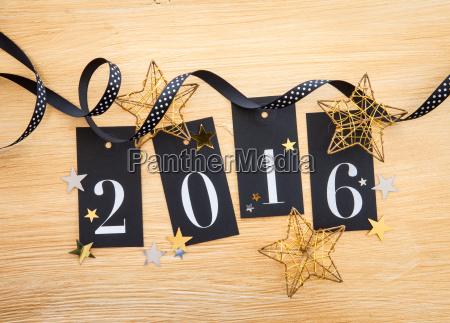 2016 glitter dekoration