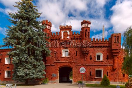 kholm gate of brest fortress at