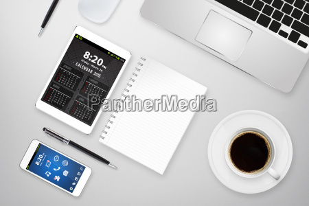 kontor arbejdsplads digital teknologi multimedie indretning