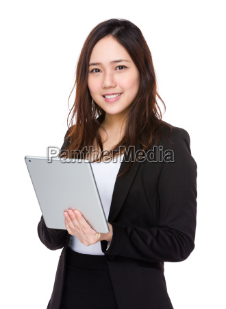 asian businesswoman use of digital tablet