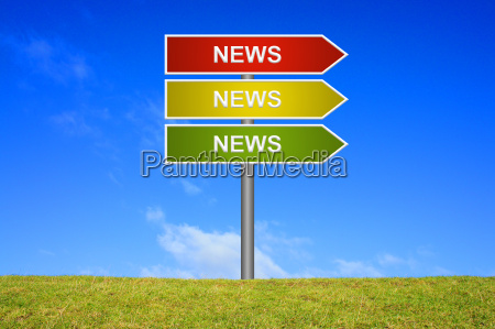 signpost viser nyheder nyheder nyheder