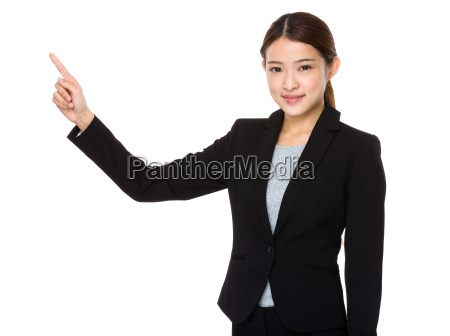 asian corporate officer with finger point