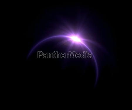solformorkelse lilla ring flare