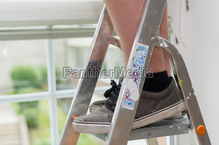 handvaerkere pa trappestiger
