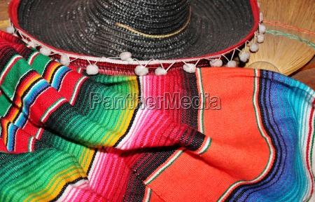 mexicanske sombrero fiesta poncho serape baggrund