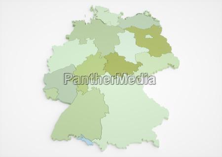 tyskland med foderale delstater45 megapixel