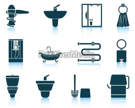 saet med badevaerelse ikon